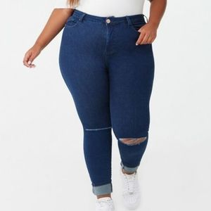 Forever 21+ Sculpted, High Rise, Ankle Jean